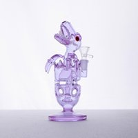 Wholesale Glass Crafts - Craft Bong Glass Water Pipes With Showerhead Fab Dino Rig 14.4mm Female Joint Oil Rigs Bubbler Pipes And Bongs Glass Bong