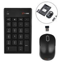 Wholesale usb numeric keyboard - New 2.4G Auto-Link Wireless Numeric Keypad Number Keyboard & Optical Mouse Combo Set For Desktops Laptops C26