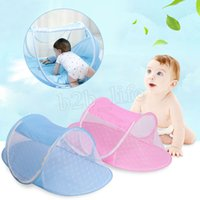 Wholesale infant girl bedding - 2 pcs Mosquito Net Tent Portable Baby Crib Multi-Function Cradle Bed Infant Foldable Mosquito Netting for Girls Bed MMA196