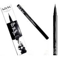 lápis de tinta venda por atacado-Dropshipping NYX Epic Ink Liner nyx lápis delineador preto cabeça de maquiagem líquido preto cor delineador à prova d 'água cosméticos de longa duração 1 pcs