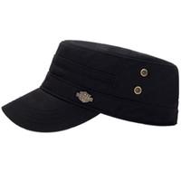 erkeklerin aksesuar giymesi toptan satış-1 ADET Düz Üst Kap Pamuk Erkekler Kadınlar Ayarlanabilir Güneşlik Taşınabilir Şapka Başkanı Giymek Spor Aksesuarları 2018 Yeni