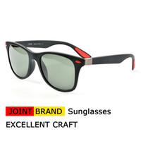 Wholesale light brown frame glasses - Joint Brand 4195 Mens Sunglasses Brand Designer Square Frame Glasses for Men Women Ultra-Light Frame Sunglasses With Origianl Case