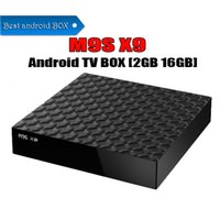 ott tv caixa bluetooth venda por atacado-M9S X9 Android 6.0 Quad-Core TV BOX Rockchip RK3229 1 GB 8 GB 2 GB 16 GB Bluetooth Inteligente Multimedia Player Android OTT caixas de tv