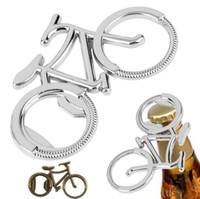ingrosso bicicletta aperta della bottiglia da birra-Bike Bicycle Metallo Beer Bottle Opener Home Party Beer Opener Strumento regalo creativo per Bike Lover