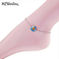 Wholesale cute anklets for women for sale - Group buy 2018 New Cute Starfish Anklet Bracelet Glass Round Pendant Anklet For Women Charm Chain Foot Jewelry Summer Beach Jewelry