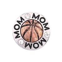 Wholesale cheap silver charm bracelets - 2018 Fashion Cheap Snap Button 18mm MOM Football Jewelry DIY Necklace Bracelet Accessory