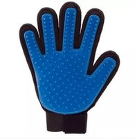 guantes de silicona para masajes al por mayor-Cepillo de limpieza para mascotas Peine para perros Guante de silicona Baño Mitt Perro para mascotas Mascota Gato Masaje Depilación Grooming Magic Deshedding Guante