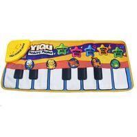 tapis de piano pour bébé achat en gros de-Bébé musique tapis bébé musique tapis éducatif bébé enfant enfant musique de piano Plat Mat 72 * 29cm gros