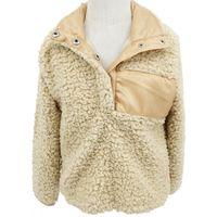 Wholesale kids v neck sweater - Boys Girls Winter Autumn Sherpa Pullover Coat Jacket Baby Kids Warm Hoodie Sweatshirt Fleece Sweater 6 colors DHL Ship