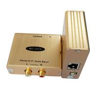 integrierter verstärker großhandel-Hi-Fi AV Audio zu Cat5 Konverter Mit Rauschunterdrückung und 2KV Überspannungsschutz Stereo Audio TransmitterReceiver Over Cat5 / 6
