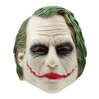 jouets chevaliers achat en gros de-TOFOCO New Tricky Hommes Halloween Horreur Dark Knight Masques Effrayant Latex Batman Masque De Clown Pinhead Blague Blague Jouet Nouveauté Shocker