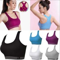 Wholesale active underwear resale online - Women Sport Seamless Racerback Bra Yoga Fitness Padded Stretch Workout Top Tank Top Active Vest Shaper Push Up Underwear OOA4467