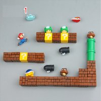 Wholesale cute animal magnets for sale - Group buy 3D Cute Super Mario Resin Fridge Magnets Suit for Kids Home Decoration Ornaments Figurines Wall Marios Bullets Bricks