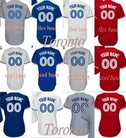 Wholesale Base Number - Men's women youth Toronto Custom any name number 20 Josh Donaldson Flexbase Cool Base white BLUE Baseball Jersey stitched s-4xl