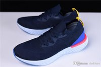 Wholesale marines women - 2018 AAA Quality Epic React Flyknits College Navy  Marine College Men & Women Running Shoes Sneakers With Original Box