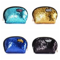 Wholesale evening clutch bags for weddings for sale - Sequin Handbags Women Portable Travel Cosmetic Bag Makeup Case Mermaid Sequins Evening Bag For Girls Wedding Clutch Bag OOA4647