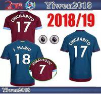 Wholesale noble football - Latest 2018 2019 West ham united soccer jerseys 18 19 LANZINI CARROLL NOBLE CHICHARITO football jersey shirt