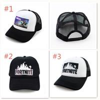 Wholesale winter visor hats - Fortnite Cap man baseball cap male snapback summer Breathable hats bone man hip hop hat for women funny Quick drying caps