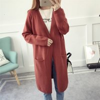 Wholesale American Curves - New Spring Women Knitted Sweater Women Long Cardigan Casual Top Long Sleeves Top Clothing Curve Appearl