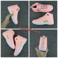 ingrosso girls pink shoes-2018 Donna 12 Sneakers GS Hyper Youth Rosa San Valentino 12s Plum Fog Flu Gioco Scarpe da basket per ragazze Master Taxi Traienrs Sneaker