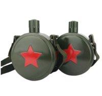 askeri su ısıtıcısı toptan satış-550 mi 304 Paslanmaz Çelik Açık Su Şişesi Retro Sürahi Büyük Kapasiteli Omuz askısı ile Askeri Kantin Kettle Yeşil