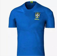 Wholesale Wholesale Quality Shirts - bust quality 2018 Brazil soccer jersey NEYMAR JR home away World Cup DAVID LUIZ COSTA COUTINHO PAULINHO 2019 Brazil football soccer shirt