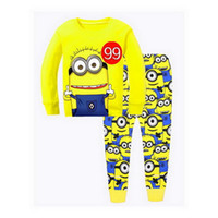 Wholesale white infant pajamas for sale - Group buy Cute Children Pajamas Sets Kids Sleepwear suit Sleeved T Shirts Trousers Boy clothes Pj s Infant pijama Tops Pant sport YW250