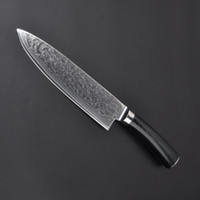 Wholesale Damascus Steel Kitchen - 67layer VG10 damascus steel chef 8 inch Damascus kitchen knives Damascus knife high quality VG10 Japanese steel chef knife Micarta handle