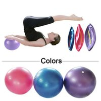 Wholesale health training - Mini Pilates Ball Health Fitness 25cm Yoga Ball 3 Color Utility Anti-slip Pilates Balance Yoga Balls Sport For Fitness Training