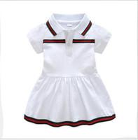 algodão verão vestidos anos bebê venda por atacado-Best-seller novo verão bebê vestido de lapela de algodão 2019 recém-nascido roupas de bebê 9 meses -3 anos de idade vestido