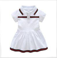 ingrosso mese del cotone del vestito dal bambino-Il nuovo vestito da estate del bambino di più-vendita 2019 vestiti di neonato bavero bavero 9 mesi -3 anni vecchio vestito