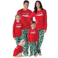 295a33a0d27cc En gros Noël Famille Correspondant Vêtements Sata Pyjama Renne Géométrique  Enfant Garçons Filles Adulte Tenues Rouge Tops Vert Pantalon De Noël  Vêtements