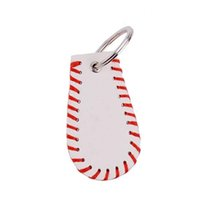 Wholesale stitch keychains for sale - Group buy Leather Sports Key Chain Baseball Stitch Keychain Accessories