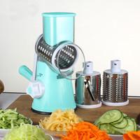 Wholesale new potato slicer resale online - New Manual Vegetable Fruit Cutter Slicer Potato Carrot Carrot Slicer Cheese Grater Stainless Steel Blades Kitchen Tool WX9