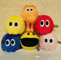 brinquedos de sucção para homens venda por atacado-16-20 CM Nova Chegada Q-bert Brinquedo de Pelúcia Pac-Man Pixels Guerra Longo Nariz Macio Boneca de Pelúcia com ventosa Frete Grátis