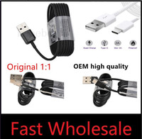 Wholesale Fits Data - Top quality OEM 1.2M 4ft USB Type-C sync data cable supply fast charging fit for s8 S6 fast charger work for s8 plus note 8 S9 Copper wire.