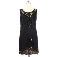 SEPTDEER SEPTDEER Europe Oversized Fashion Sequins Embroidery Beaded Great Gatsby Flapper Plus Size Retro Dresses 5XL KR3081-2