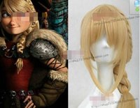 Wholesale dragon wig - Train Your Dragon 2 Yasi Chui Shan ponytail cosplay wig styling golden tails