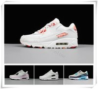 Wholesale cheap ladies sneakers - Wholesale Newest 90 Men Women Sneakers Shoes Cheap Classic 90 Ladies Running Shoes Black Pink White Trainer Sports Shoes