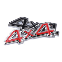 Wholesale black metal car sticker online - 3D Metal x4 Displacement Car stickers Logo Emblem Badge Truck Auto Motor Car Styling Sticker Decal Four wheel drive