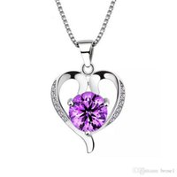 Wholesale Beautiful Items - 925 sterling silver jewelry fashion women lovely beautiful pendant necklace Korean jewelry wholesale item