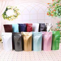 Wholesale coffee bean packaging bags - 250grams capacity resealable lamination aluminum foil pouches ziplock stand up bag coffee bean packaging bag with valve