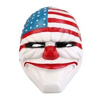 Wholesale resin masks jester for sale - Group buy Harvest Flag Theme Party Mask Of The Game System Class Mask Dance Party Decoration Wedding Props Grade Resin Full Face Mask