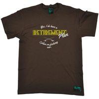 lustige fischen t-shirts großhandel-Ja, ich habe einen Ruhestand Plan Angeln T-SHIRT T-Shirt Ruhestand Fisch Geburtstag lustig