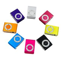 Wholesale mini clip mp3 player resale online - Mini Clip MP3 Player Hot Cheap High Quality Sport Musical Players Come without Earphone USB Cable Retail Box Support Micro SD TF Cards