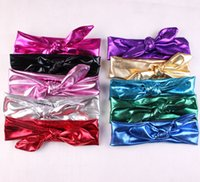 Wholesale korean hair style ladies - Korean Style popular Bronzing Baby Headband 10 Color Girl Hair Accessories Cute Young Lady Hairdress wholesale