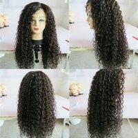 kinky kıvırcık insan saçı satışı toptan satış-100% işlenmemiş parlaklık seksi güzel bakire insan saçı doğal renk kinky kıvırcık uzun tam dantel üst peruk satılık