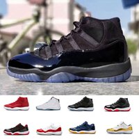 Wholesale Pink Prom Shoes - New arrival 11 Prom Night Black Out win like 82 96 Prm heiress Space jam mens women 11S basketball shoes Athletic Sports Sneakers