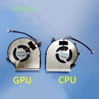 ventiladores de enfriamiento gpu al por mayor-Nuevo CPU portátil CPU GPU ventilador de enfriamiento para MSI GE72 GE62 PE60 PE70 GL62 GL72 GP62 2QE 6QG MS-1794 MS-1795 PAAD06015SL