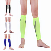 Wholesale Green Pain - Leg Compression Socks for Calf Pain Relief For Women & Men 5 Colors Basketball Football Running Compression Calf Sleeves Free DHL G473Q